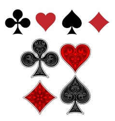 Playing card suit icons vector image