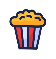 popcorn icon design popcorn box isolated on white vector image