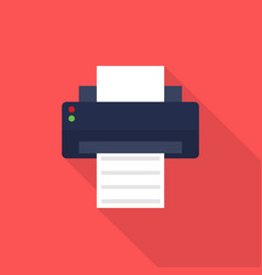 printer icon set of great flat icons design vector image