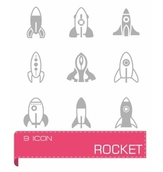 Rocket icon set vector