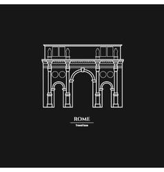 Rome landmark outline 1 vector