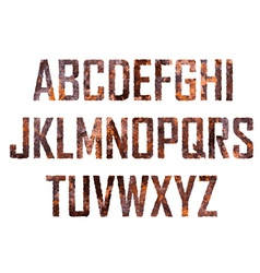 Rusted big letters vector