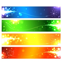Set of banners for the seasons vector image
