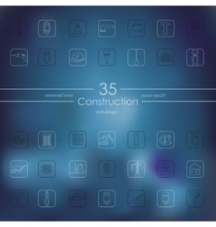 Set of construction icons vector
