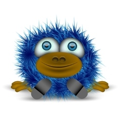 Shaggy blue monster vector