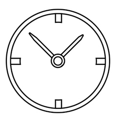 Small wall clock icon outline style vector