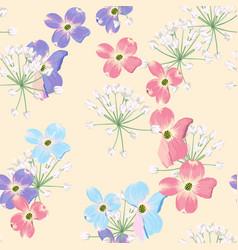 spring autumn violet blue pink flowers vector image