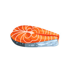 steak of salmon red fish seafood product vector image