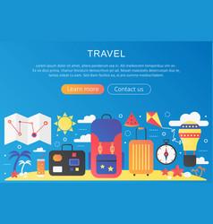 Trendy flat gradient color travel trip vector
