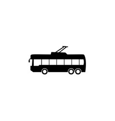 trolleybus icon element of car type icon premium vector image