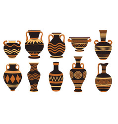 vase ancient greek pottery amphora and greece vector image