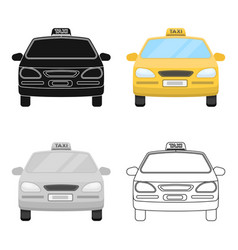 Yellow taxi cartransport taxis for passengers vector
