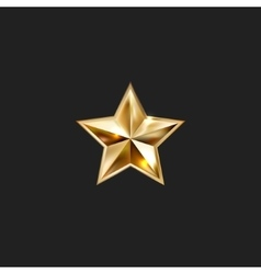 hand drawing gold star with five rays elegant vector image vector image