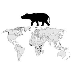 Hippo range vector image