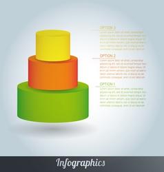 3d progress template vector image vector image
