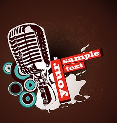 mic vector image vector image