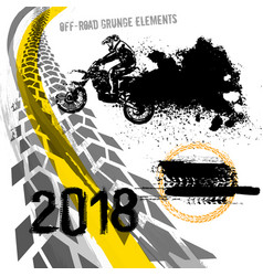 Off-road motorcross set vector