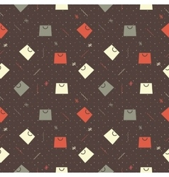 Pattern for Black Friday with bag and ribbons vector image