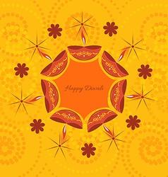 artistic diwali background vector image
