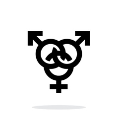 Bisexual icon on white background vector
