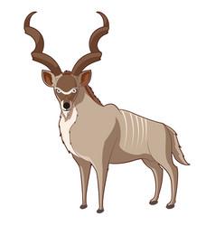 cartoon smiling kudu vector image