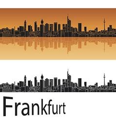 Frankfurt skyline in orange background vector image