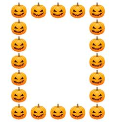 Halloween photo frame vector image