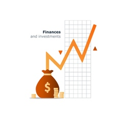Index fund investment concept budget spending vector
