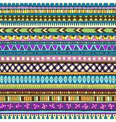 Original drawing tribal doddle ethnic pattern vector image