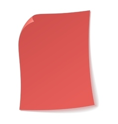 Pink sheet of paper icon vector image vector image