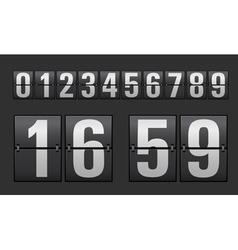 Plastic digits set vector image
