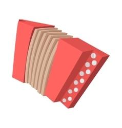 Red retro accordion cartoon icon vector image vector image