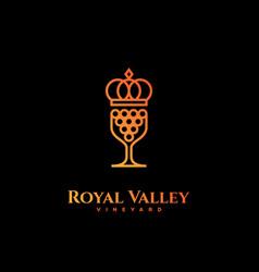 royal valley logo vector image vector image