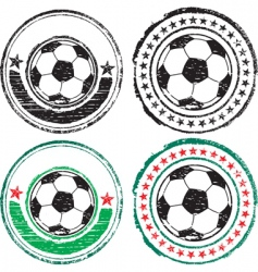 soccer ball stamps vector image vector image