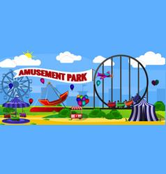 amusement park landscape vector image