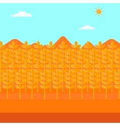 Background of wheat field vector image