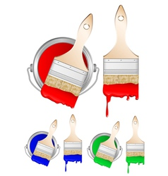 brushes and paint vector image