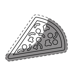 pizza fast food icon vector image
