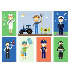 Set of men and women professional characters vector image