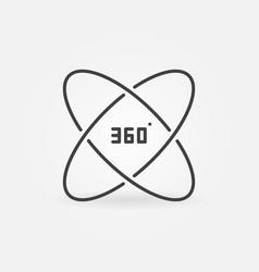 360 degree outline concept icon vector