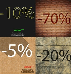 70 5 20 icon Set of percent discount on abstract vector