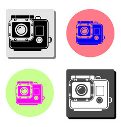 action camera flat icon vector image