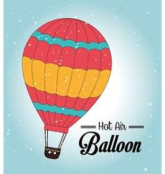 Air balloon over blue background vector