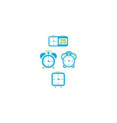 alarm clock icon logo vector image