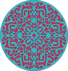arabesque rond vector image