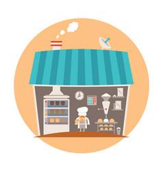 Bakery or bakeshop concept vector