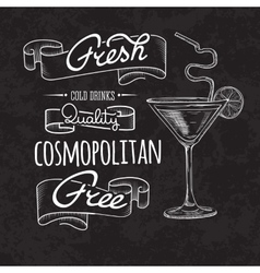 Bar menu of cocktail proposal vector image