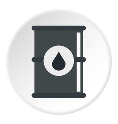 Barrel of oil icon circle vector