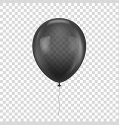 black realistic balloon vector image