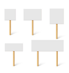 Blank demonstration banners protest placards vector